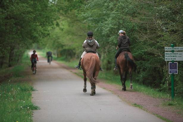 chevaux voie verte morbihan bretagne sud