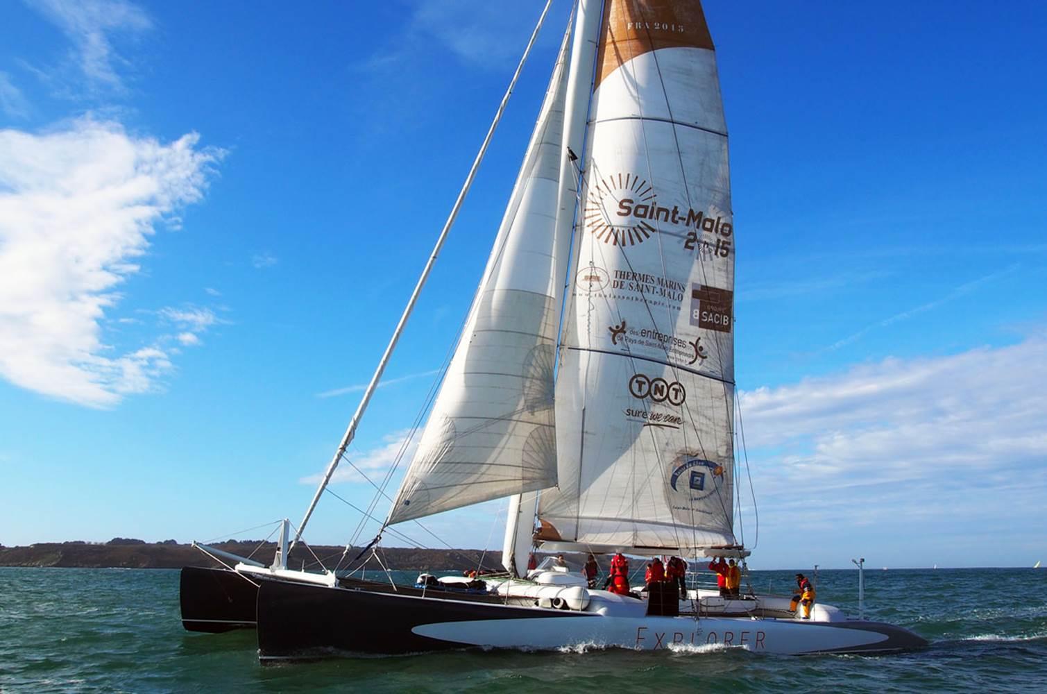 Sous le vent des îles en Bretagne Sud à bord d'Explorer © CHALLENGE OCEAN