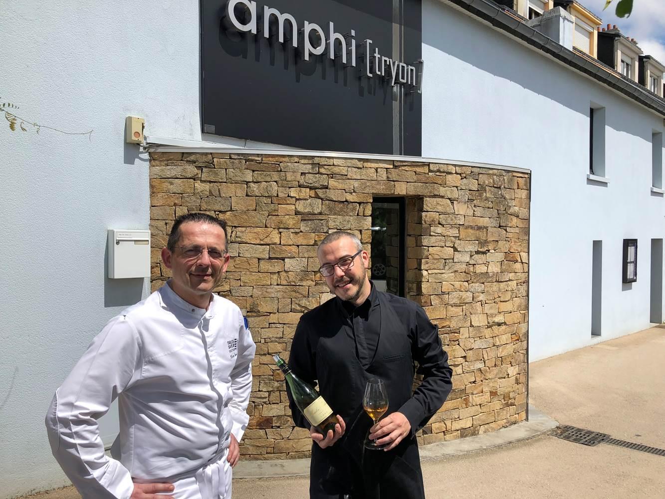Restaurant l'Amphitryon à Lorient Olivier Beurné et Anthony Rauyld © Morbihan Tourisme