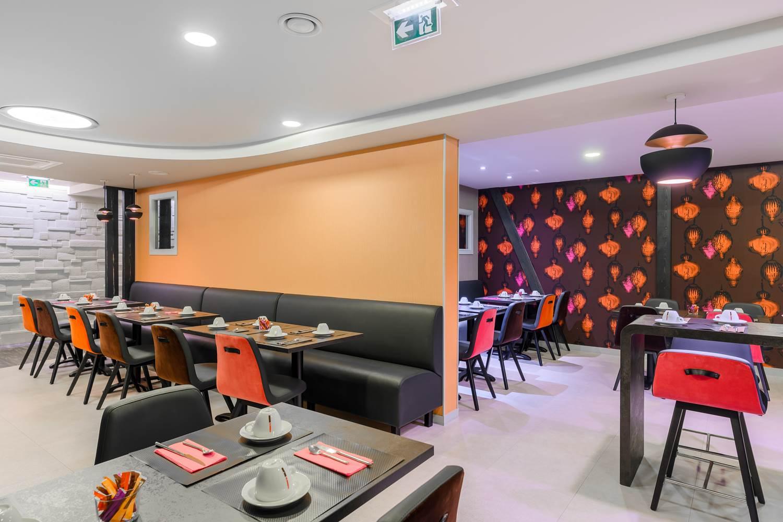 banquette petit dejeuner hôtel la Marébaudière vannes centre ©