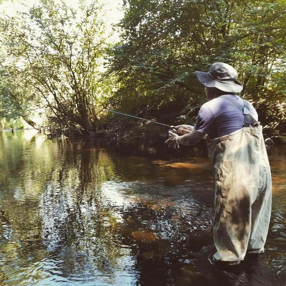 Pêche de la truite Scorff romain sturque rom's rods guide de pêche ©