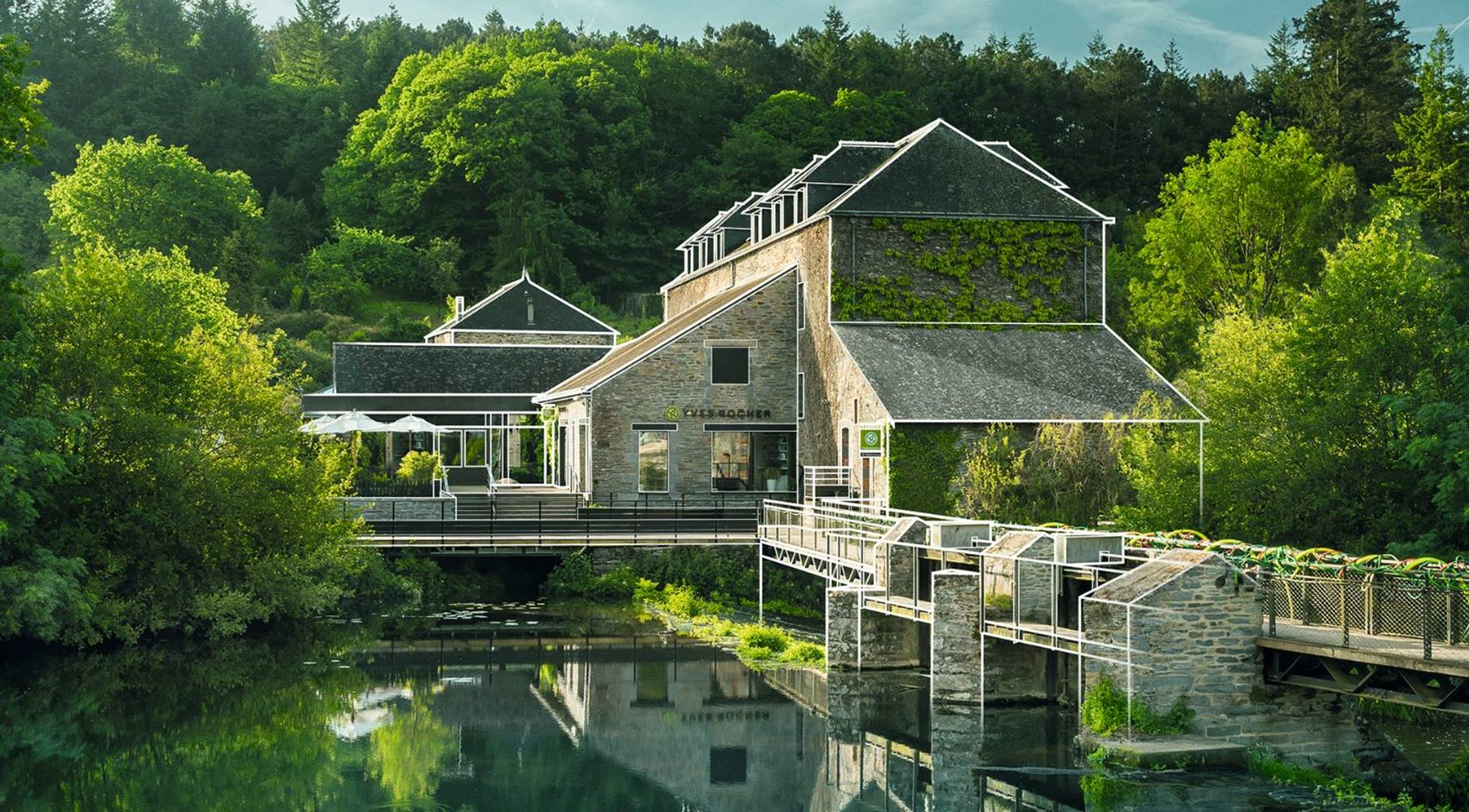 Maison Yves Rocher-La Gacilly-Morbihan Bretagne Sud © Emmanuel Berthier