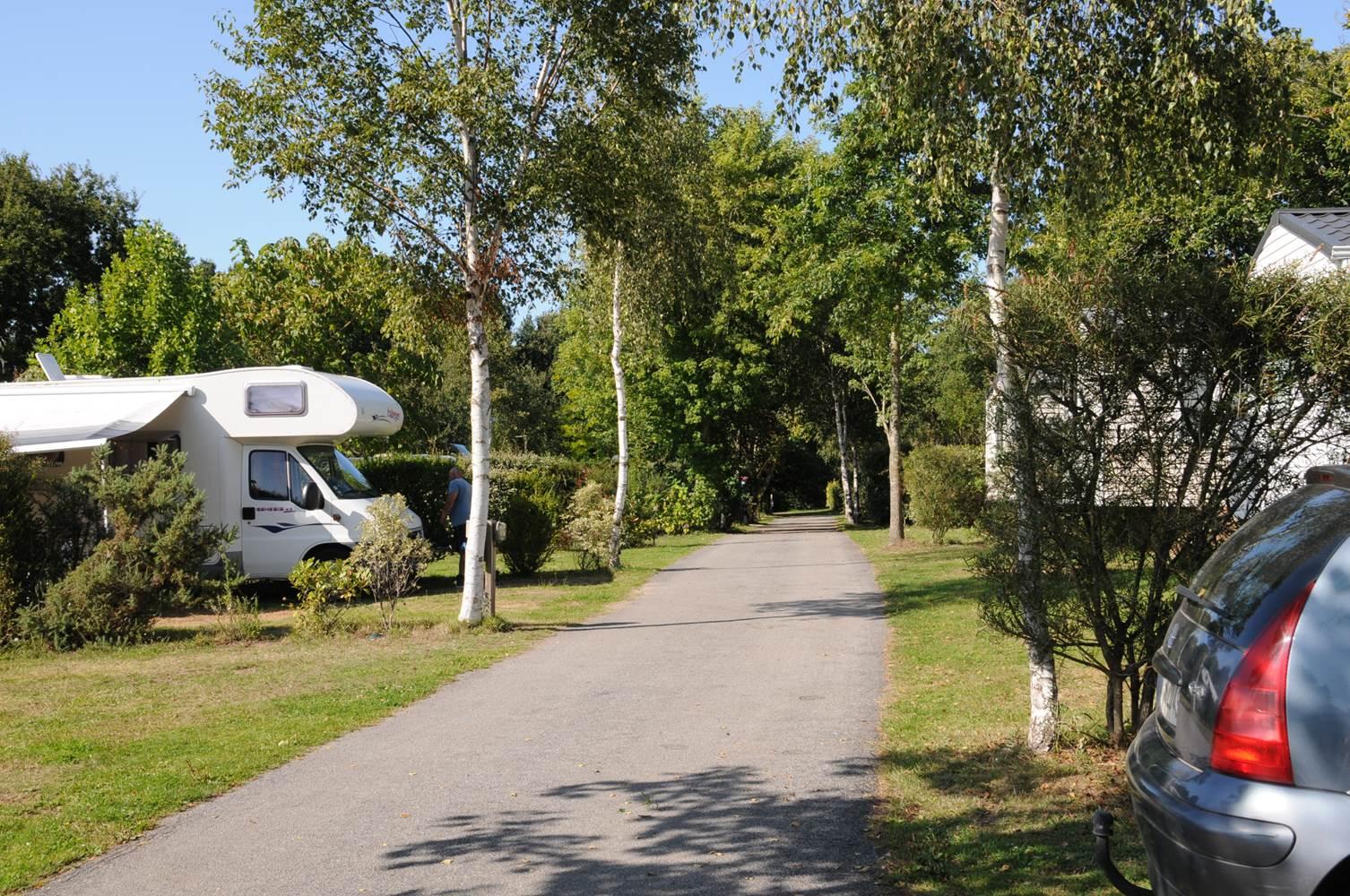 Vue générale sur les emplacements nus Camping LA BLANCHE HERMINE ©