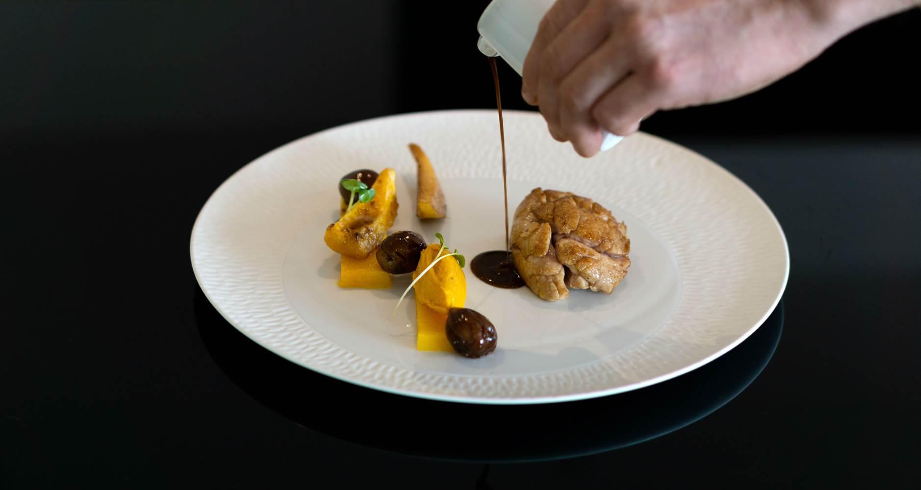 Ris de veau Restaurant L'Eskell Le Diana Hotel et Spa Nuxe Carnac Morbihan Bretagne Sud ©