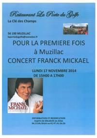 Concert de Franck Micka�l au restaurant A la Porte du Golfe