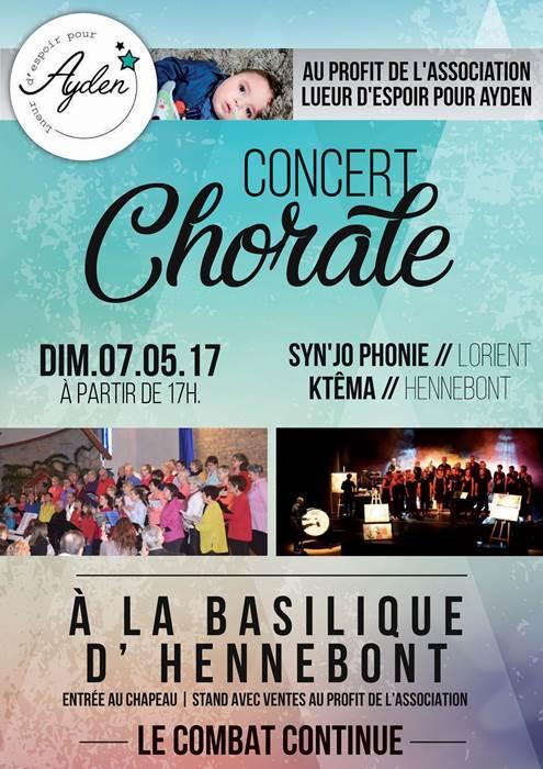Concert à la Basilique de Hennebont Association Lueur d'espoir pour Ayden