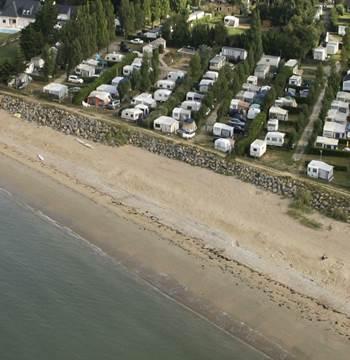 Camping Les Goélands - Ambon - Plage -Tourisme Arc Sud Bretagne. Mobil home face à la MER 1 à 6 pers