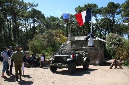 Visite du Bégo par Liberty Breizh Memory Group